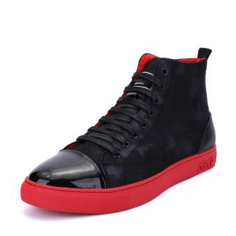 Canvas red New style shoes men's shoes (Red)