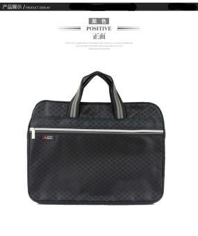 Canvas zip-Briefcase file bag file holder (Black)