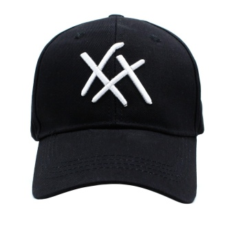 Cap City Fashion Plain Criss Cross Baseball Cap (Black) - 2