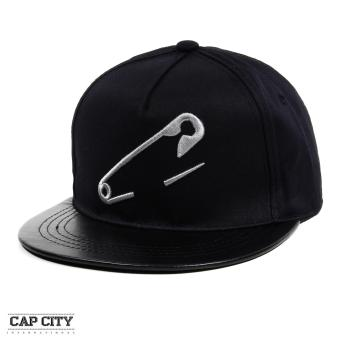 Cap City Hip Hop Pin Embroidery Casual Snapback Cap (Black) Price Philippines