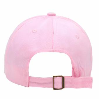 Cap City Korean Style with NY embroidery and 2 Ring Pirce Design Baseball Cap (Pink) - 3