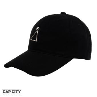 Cap City Korean Style with Triangle Pendant Design Baseball Cap (Black)