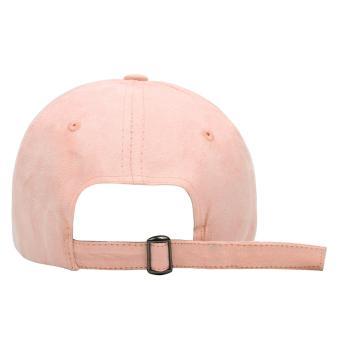 Cap City Letter M Adjustable Suede Cap Pastel Color Street Casual Baseball Cap (Pink) - 3