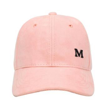 Cap City Letter M Adjustable Suede Cap Pastel Color Street Casual Baseball Cap (Pink) - 2