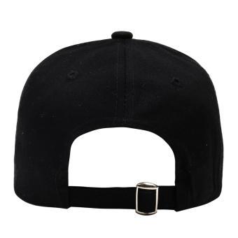 Cap City Plain Adjustable Fashion Smurfs Embroidery Baseball Cap(Black) - 3