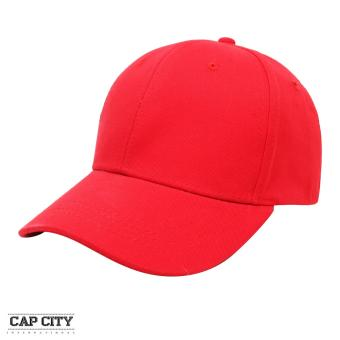 Cap City Plain Adjustable Street Casual Baseball Cap (Light Red)