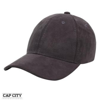 Cap City Plain Adjustable Suede Cap Pastel Color Street Casual Baseball Cap (Grey)