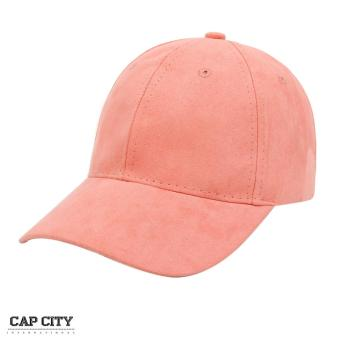 Cap City Plain Adjustable Suede Cap Pastel Color Street Casual Baseball Cap (Pink)