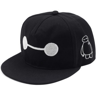 Cap City Unisex CapNime Fashion Cosplay Snapback BayMax Baseball Cap (Black)