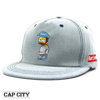Cap City Unisex Hip-hop Bart Simpson Snapback (Light Blue)