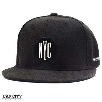 Cap City Unisex Hip Hop NYC Cubecode Snapback (Black)
