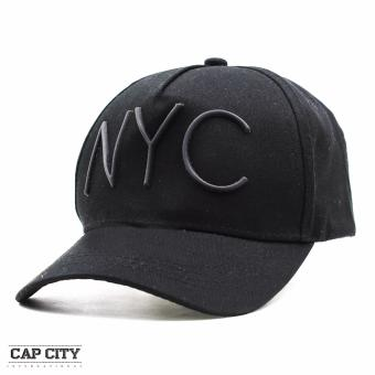 Cap City Unisex Hip Hop NYC Sports Cap (Black)