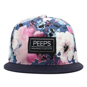 Cap City Unisex Hip-hop PEEPS Snapback (Floral) - 2