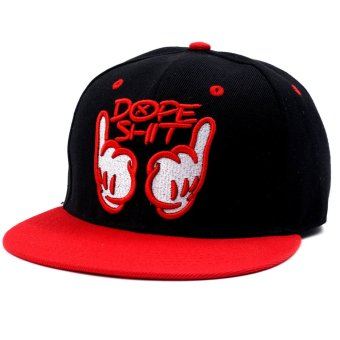 Cap City Unisex Hip-hop Snapback Dope Baseball Cap (Red) - 2