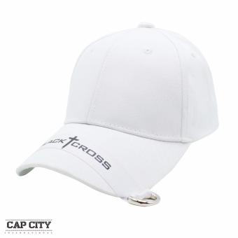 Cap City Unisex Plain Black Cross Korean Baseball Cap (White) Price Philippines