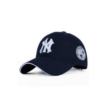 Cap Cotton Hat Cap Letter Baseball Cap Casual Cap Outdoor MaleFemale Korean Baseball (Blue) - intl