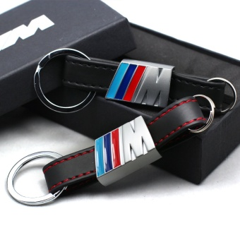 Car Leather Key Rings Fob Holder Car Logo Keychain for BMW X1 X3 X5X6 M1 M3 M5 F10 F20 F30 E60 E92 116I 118I 730li Carstyling(Color:black) - intl Price Philippines