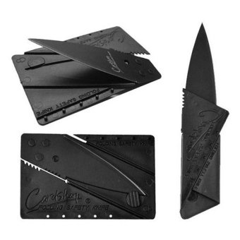 Cardsharp Credit Card Size Foldable Pocket Knife (Black)