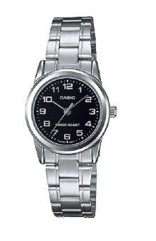 Casio Analog Women's Silver Stainless Steel Watch LTP-V001D-1BUDF