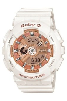 Casio Baby-G Women's White Resin Strap Watch BA-110-7A1