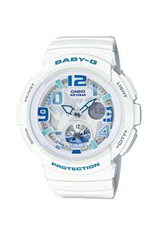 Casio Baby-G Women's White Resin Strap Watch BGA-190-7B