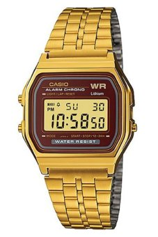 Casio Digital Women's Gold Stainless Steel Strap Watch A159WGEA-5DF