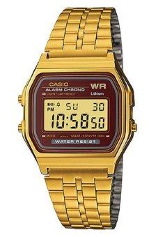 Casio Digital Women's Gold Stainless Steel Strap Watch A159WGEA-5DF