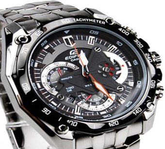 Casio Edifice Chronograph Men's Stainless Steel Strap Watch EF-550D - picture 2