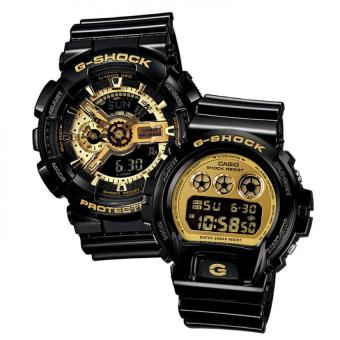 Casio G-Shock Couple Black Resin Strap Watch GA-110GB-1A & DW-6900CB-1