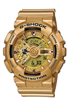Casio G-Shock Men's Gold Resin Strap Watch GA-110GD-9A