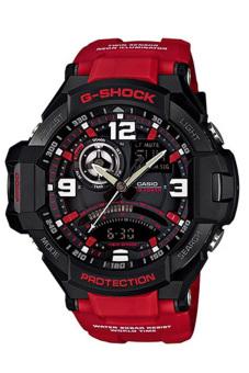 Casio G-Shock Men's Red Resin Strap Watch GA-1000-4B