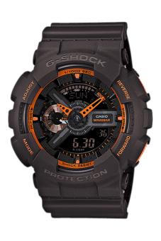 Casio G-Shock Men's Black Resin Strap Watch GA-110TS-1A4