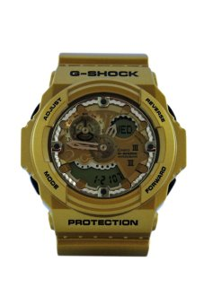 Casio G-Shock Men's Gold Resin Strap Watch GA-300GD-9AER