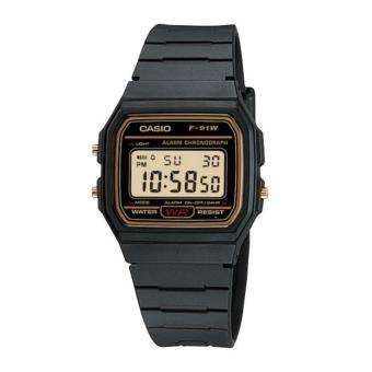 Casio Unisex Black Resin Strap Watch F-91WG-9SDF