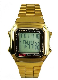 Casio Unisex Gold Stainless Steel Strap Watch 178WGA-1A