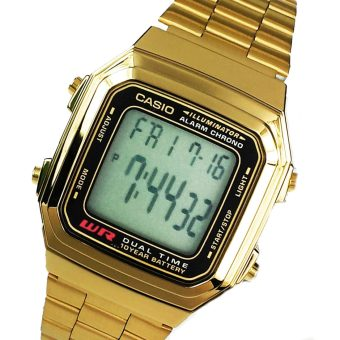 Casio Unisex Gold Stainless Steel Strap Watch 178WGA-1A - picture 2