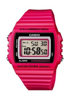 Casio Unisex Pink Resin Band Watch W-215H-4AVDF