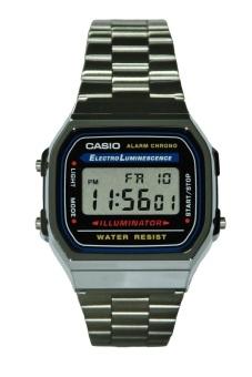 Casio Unisex Silver Stainless Steel Strap Watch A168WA-1WDF