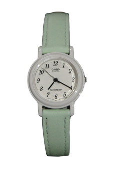Casio Women's Green Leather Strap Watch LQ-139L-3BDF