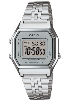 Casio Women's Silver Stainless Steel Band Watch LA680WA-7DF