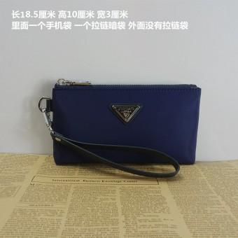 Casual canvas envelope handbag men's handbag (Dark blue color [Mini Models with trademark])