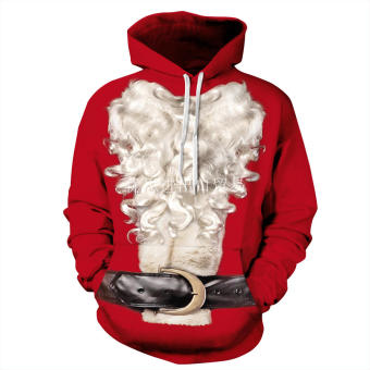casual Christmas series New Year red hoodie