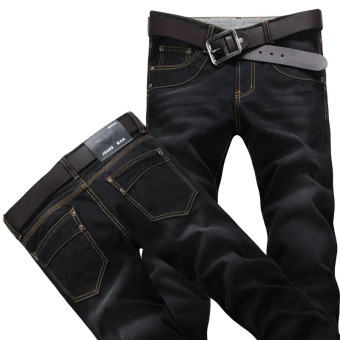 Casual cowboy black Plus-sized long pants men's cowboy pants (L-02 black)