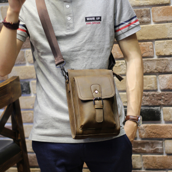Casual Crazy Horse leather men's small bag men's bag