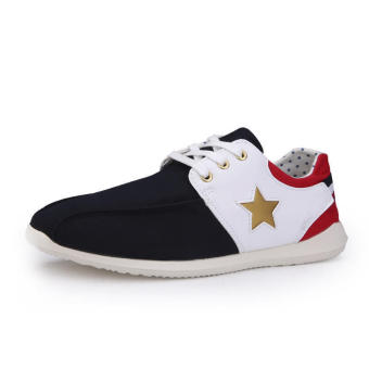 Casual Fashion Pentagram Sport Men Sneakers - Blue