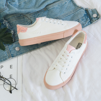 Casual Female Summer New style shoes white shoes (White powder)