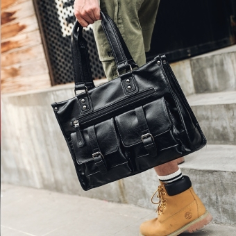 Casual leather cross men's bag men's handbag