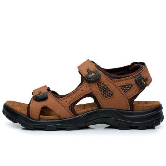 Casual Leather Sandals Light brown - picture 2