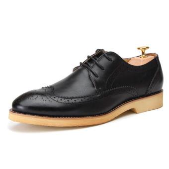 Casual Men Oxfords Formal Shoes - Black - 3