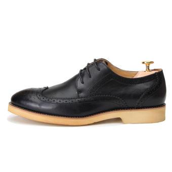 Casual Men Oxfords Formal Shoes - Black - 2